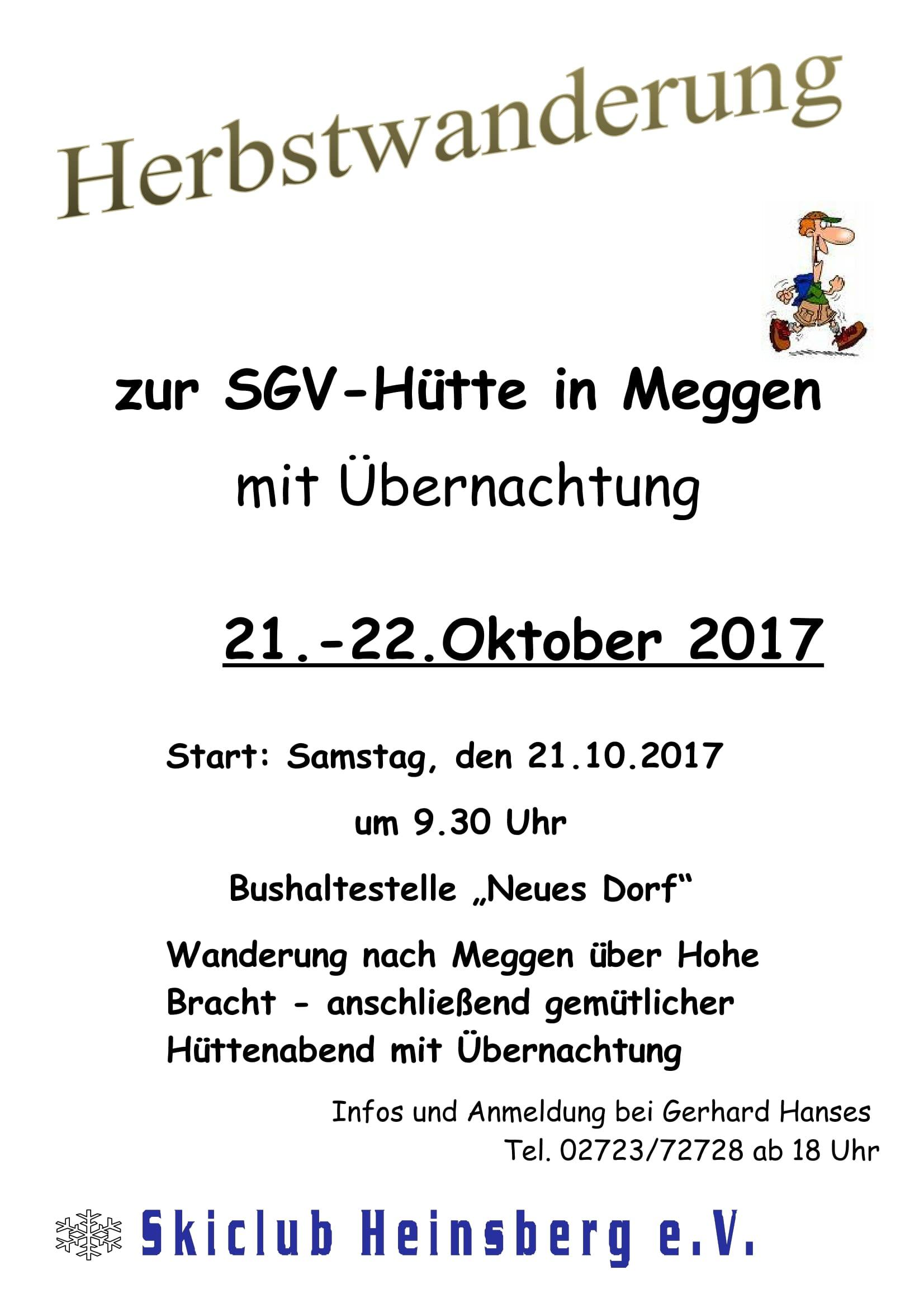 Plakat Herbstwanderung SGV Meggen